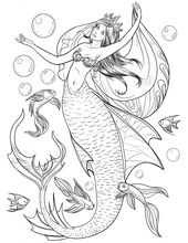Mermaid Coloring Pages for Adults – Best Coloring Pages For Kids