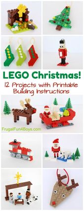 06f021f8e80a0f3ba48c7adb7320b962 - LEGO Christmas! A huge collection of Christmas projects to build with LEGO bricks. - Frugal Fun For Boys and Girls