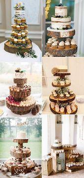 15 köstliche Hochzeitstorten mit Cupcakes #hochzeitsthema #vintagehochzeits