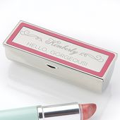 Make-up Motto gravierte Lippenstift Fall   – bridemaid gift boxes