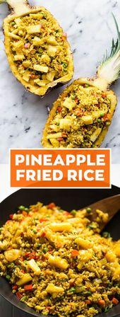 30-minütiger gebratener Ananasreis: ein gesundes …