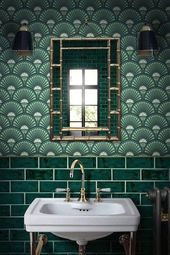 Trendy Badezimmer Modern Green Powder Zimmer Ideen …