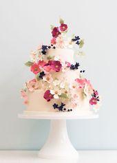 Empfohlener Kuchen: Rosalind Miller Cakes; Entzückende rosa und weiße Blume …   – Cakes