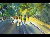 Aquarell-Sonnenlicht auf der Straße – YouTube