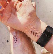 42 sinnvolle passende paar Tattoo-Ideen für die Liebe –   – Tattoo & Body Painting
