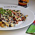 Pâte papillon aux champignons secs et à l'encre au bacon – La cuisine de Ponpon: rapide et facile!   – pastas
