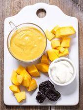 Citrouille, yaourt + pruneau purée de nourriture pour bébé   – baby foods for Thomas