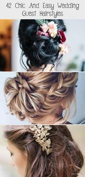 42 chic and simple hairstyles for wedding guests Best hairstyles 36 sch