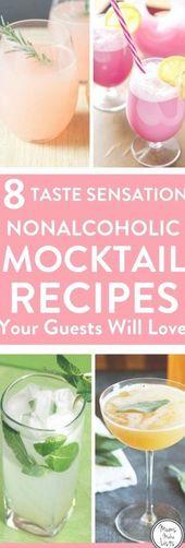 Einfache alkoholfreie Getränke Rezepte für leckere Mocktails für Partygäste, die … – food and cocktails