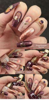 latest screen nail design fall diy technology