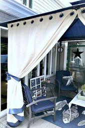 Beschatten Sie Ihren Pavillon mit Vorhängen! Sehen Sie, welche Art von Vorhängen für mich und …   – Top outdoor pergola ideas