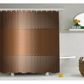 Industrial Shower Curtain, Perforated Grid Plate Steel with Dots Illustration Futuristic Technology Theme, Fabric Bathroom Set with Hooks, Ombre Bronze, by Ambesonne – Walmart.com