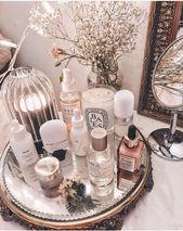 Makeup, diptyque, shelfie, top shelf, display, interior decor, photography inspi…