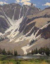 Alta Lakes von Damien M. Gonzales, Öl, 10 x 8