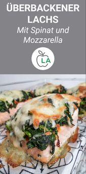 Gebackener Lachs mit Spinat und Mozzarella   – kochen