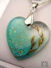 Image result for hearts in resin jewelery #image result #hearts #jewellery #na …