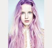 Lila Haare Regenbogenhaartrend – #purple #rainbow #trend – #RainbowHair