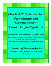 This combined grade 4/5 units meets the Ontario Science Curriculum Expectations ... 2