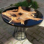 20+ Classy Resin Wood Table Ideas For Your Furniture