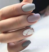 Matte Acryl Short Square Nails Design für Summer Nails, Short Square Nails …..   – natural nails