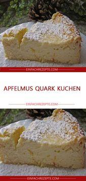 Apfelmus Quark Kuchen – Backen