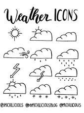 {doodle with me} Wetter Icons für deinen Kalender + FREEBIE