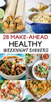 Make Ahead Meals – 29 Recipes for Easy Weeknight Dinners