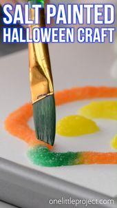 Salt Painted Halloween Craft