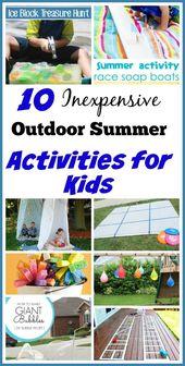 10 Inexpensive Summer Outdoor Activities for Kids – OT DIY
