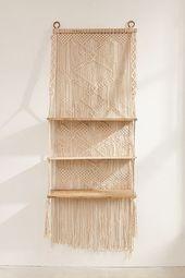 Macramé Hanging Shelf