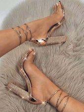 Elegante High Heels Strap Lace Frau Sandalen, FS114 von FashionGirlShoes