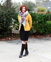 Blanket scarf – Savvy Southern Chic, mustard cardigan outfit