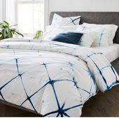 Clamped Shibori Duvet Cover & Shams    – 100% organic cotton and natural dye in …