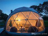 Grande tente extérieure transparente de dôme géodésique de glamping d'hôtel pour le camping de famille  – diana sensi 2019