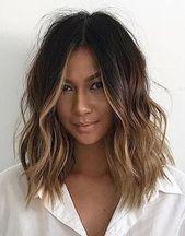 Haare, kurze Haare, welliges Haar, Ombre, Balayage, Naturhaar, Schönheitswellen. #Hairi …