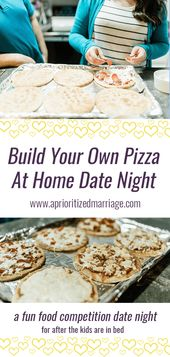 Build Your Own Pizza Competition – At Home Date Night Idea