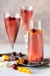 Cranberry Orange Prosecco Cocktail – Eine saisonale Wendung für eine Mimose