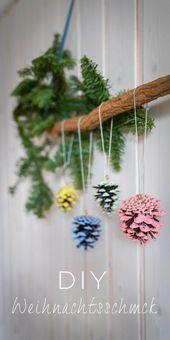 DIY Weihnachtsschmuck aus Tannenzapfen