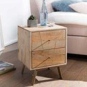 Nachttisch aus Mangoholz Massivholz EisenPharao24.de   – Products