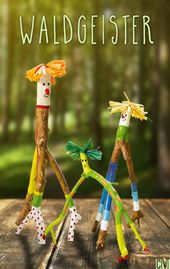 Tinker with branches – small forest spirits