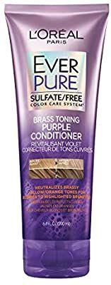 Amazon Com L Oreal Paris Hair Care Everpure Sulfate Free Brass Toning Purple Conditi Purple Shampoo Purple Shampoo And Conditioner Brown Hair With Highlights