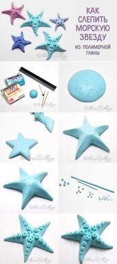 Fimo hamurundan deniz yıldızı figürü yapmak çok basit bir işlem gerektiri … #basit #deniz #…