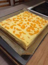 Quark – Mandarinen – Blechkuchen – Schnelle Kuchen
