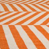 Spice Avira Flat-Woven Wool Rug | World Market