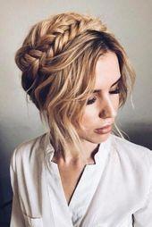 Bridesmaid Updos And#8211; Elegant And Chic Hairstyles ★ bridesmaid updos with braided crown on blonde hair verafursova via instagram #braidscrown