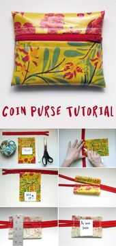 Oil Cloth Coin Purse Tutorial