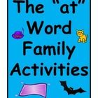 """at"" Word Family Activities – Classroom"
