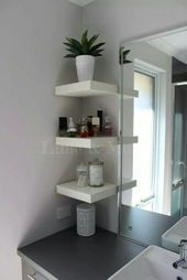 50 Awesome Hanging Bathroom Storage for Small Spaces – #awesome #Bathroom #Hangi…