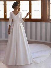 Ball Robe Lengthy Sleeves Cascading Ruffles Sweep/Brush Church Wedding ceremony Gown
