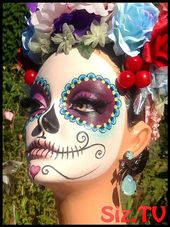 RESERVED for M Dia de los Muertos-Day of the Dead by DarlinDesign, #DarlinDesign # of #Dia …  – tag der Toten